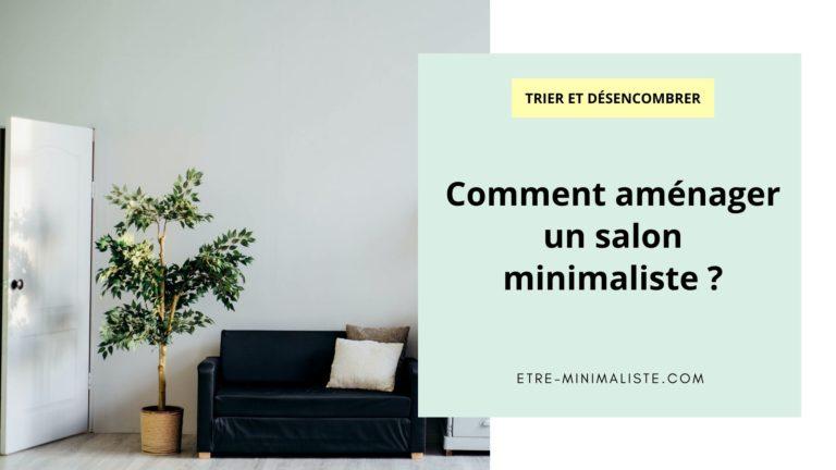 Comment aménager un salon minimaliste