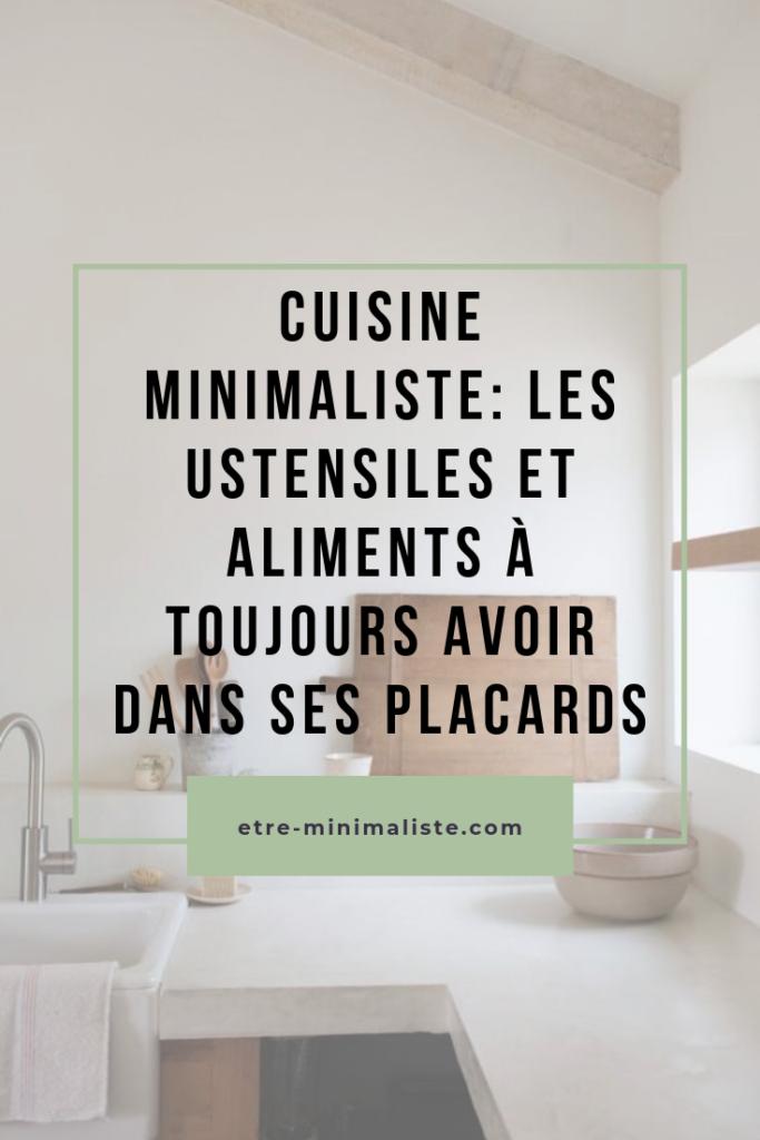 Les indispensable dans une cuisine : Ustensiles et denrées | Etre-minimaliste.com